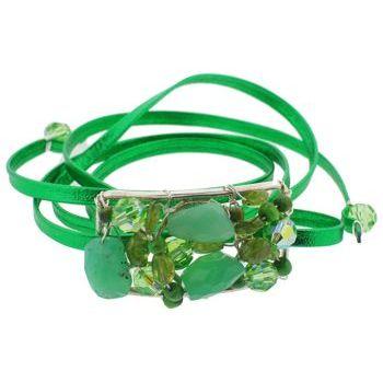 Rachel Abroms - Mosaic Jeweled Wrap - Green