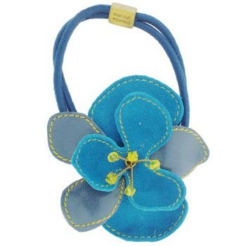 Colette Malouf - Kidskin Pansy Pony w/ Crystals - Peacock (1) - HairBoutique.com Marketplace