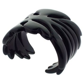 Pono - Ink Black Cuff w/Dark Marble Swirls :  fashion accessory hawaiian pono ink black