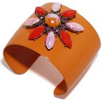 Gerard Yosca - Orange Bracelet Cuff w/Pink & Orange Stones :  cuff bracelet jewelry cuff spectacular