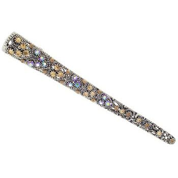 Karen Marie - Crystal Encrusted Filigree Jaw Clip - Gold (1)