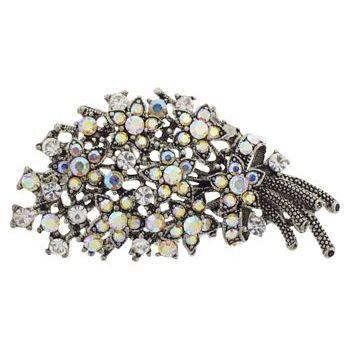 Karen Marie - Bridal Collection - Vintage Crystal Flower Bouquet Brooch - White & Yellow AB (1)