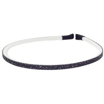 HB HairJewels - Lucy Collection - Skinny Glitter Headband - Black