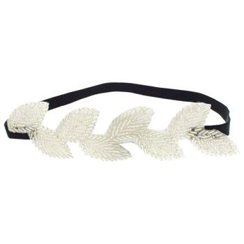SBNY Accessories - Beaded Leaves of Rome Stretch Headband