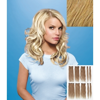 HairDo - 10 Piece Human Hair Extensions (Color: R25 Ginger Blonde)