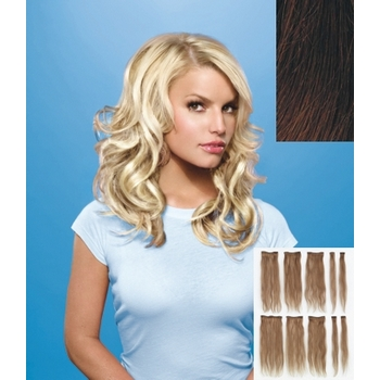 HairDo - 10 Piece Human Hair Extensions (Color: R3HH Dark Brown)