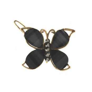 Medusa's Heirlooms - Enamel Glass Butterfly Clip - Onyx (1)