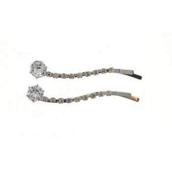 Medusa's Heirlooms - Crystal Carat Wavy Bobby Pins - White Diamond (Set of 2)