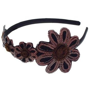 SBNY Accessories - Blooming Daises Sequin Headband