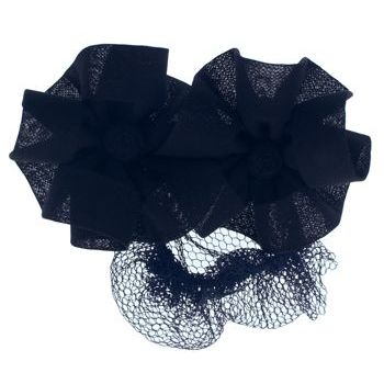 Scunci - Two Flower Snood Barrette - Black