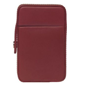 Alicia Klein - Business Card Flip Top - Pomegranate Leather