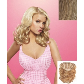 HairDo -  18inch Wavy Vibralite Synthetic Extensions (Color: R14/25 Honey Ginger)