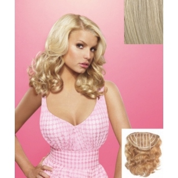 HairDo -  18inch Wavy Vibralite Synthetic Extensions (Color: R22 Swedish Blonde)