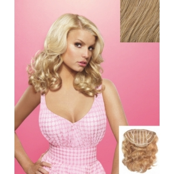 HairDo -  18inch Wavy Vibralite Synthetic Extensions (Color: R25 Ginger Blonde)