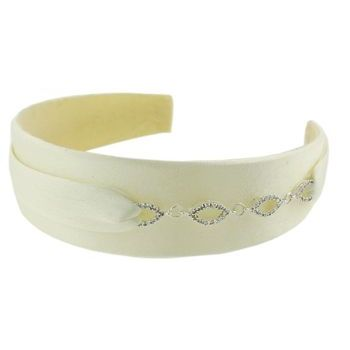 Balu - Ivory Headband w/Crystal Chain (1)