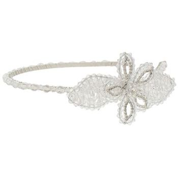 Balu - Headband w/Hex Beads & Crystal Flower - Clear (1)