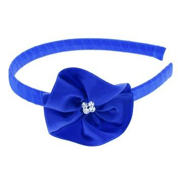 Balu - Flower Headband - Royal Blue w/Crystals (1)