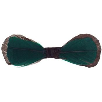 Balu - Feather Barrette - Brown/Green (1)