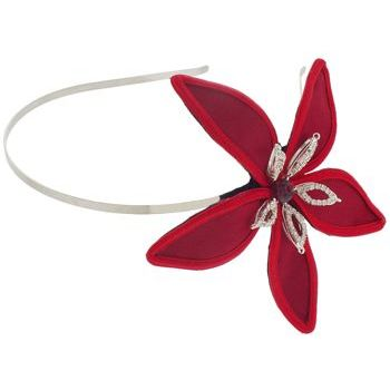 Balu - Skinny Headband w/Satin & Crystal Flower - Red (1)