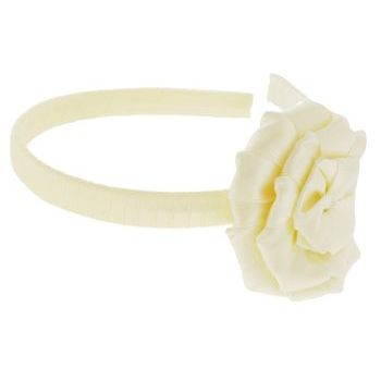Balu - Satin Wrapped Flower Headband - Cream (1)