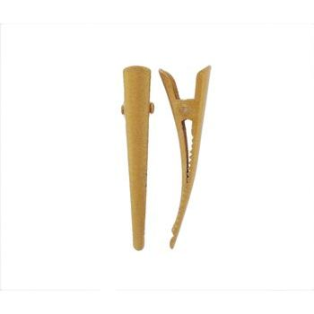 HB HairJewels - Lucy Collection - Extra Petite Metallic Banana Clip - Bronze (Set of 2)