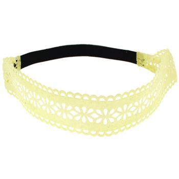 HB HairJewels - Lucy Collection - Velour Lace Bandeau - Lemon Custard (1)