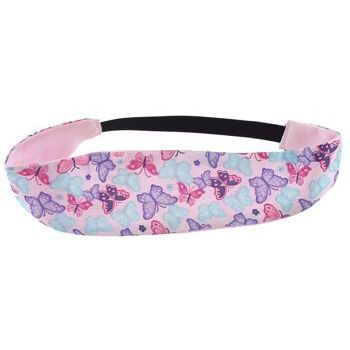HB HairJewels - Lucy Collection - Butterfly Garden Satin Bandeau - Baby Pink (1)