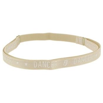 HB HairJewels - Lucy Collection - Dancer Bra Strap Headband - Cream (1)