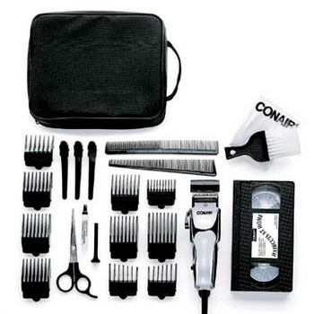 Conair - 24 Piece Chrome Deluxe Clipper Kit