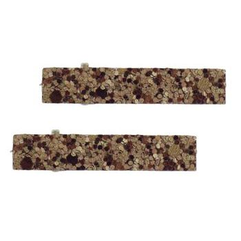 HB HairJewels - Lucy Collection - Mini Glitter Clip - Chocolate (Set of 2)