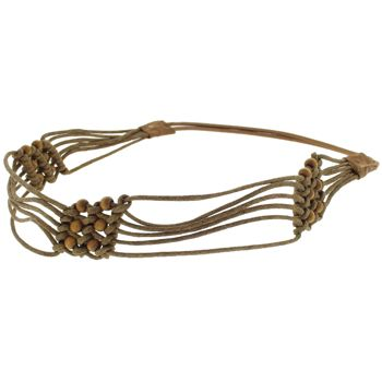 HB HairJewels - Lucy Collection - Woven Basket Weave Bandeau - Chestnut (1)