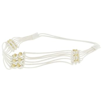 HB HairJewels - Lucy Collection - Woven Basket Weave Bandeau - Ivory (1)