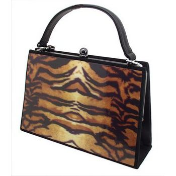Karen Marie - Boutique Bags - Tiger Medium Acrylic Pop-Art Tote