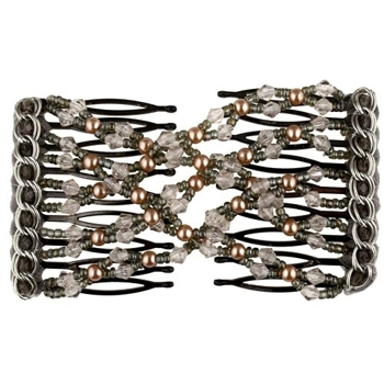 Evita Peroni - Constance Double Comb - Black Diamond - Connected Beaded Combs