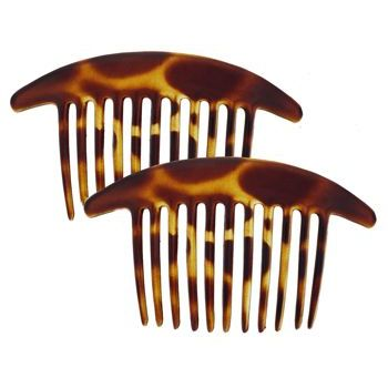 France Luxe - Classic Interlocking Combs - Tort - Set of 2 *All Sales Final*