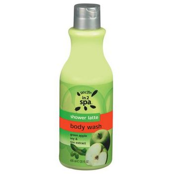 got2b - Spa Body - Shower Latte - Green Apple Soy & Rice Extract Body Cleanser - 20 fl oz (600ml)