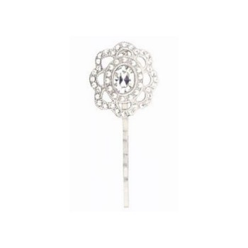 Linda Levinson - Antique Crystal & Pearl Portrait Bobby Pin (1)