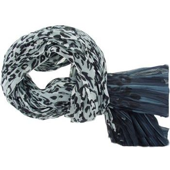 SOHO BEAT - Fashionista Scarves - Leopard Print - Grey/Slate Blue