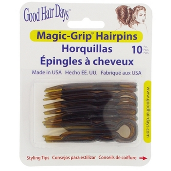 Good Hair Days - Magic Grip Hairpins - 10 Shell Colored