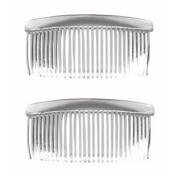 Good Hair Days - Rounded Back Combs - 3 3/4inch Crystal (2)