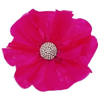 Karin's Garden - Large Poppy with Dazzling Crystal Center - Fuchsia