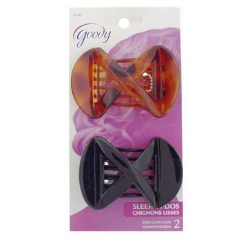 Goody - Erin Claw Clips - Black & Tort (Set of 2)