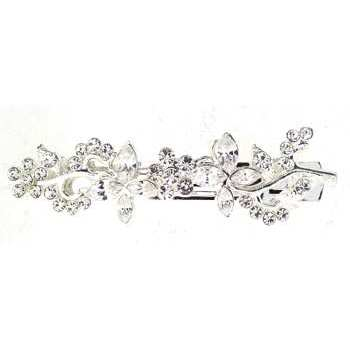 Karen Marie - Art Deco & Vintage Inspired Barrette - White Diamond Hued