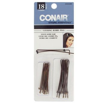 Conair Accessories - Locking Bobby Pins - 18 pc - Brown