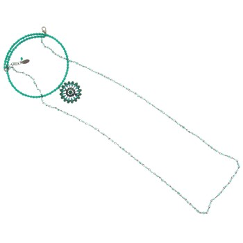 SOHO BEAT - Masquerade Collection - Jeweled Swarovski Flowering Choker with Crystaled Drop - Emerald Green