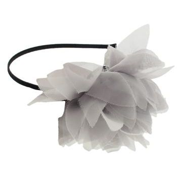 SBNY Accessories - Couture - Willow - Blossoming Chiffon Flower Headband - Smokey White