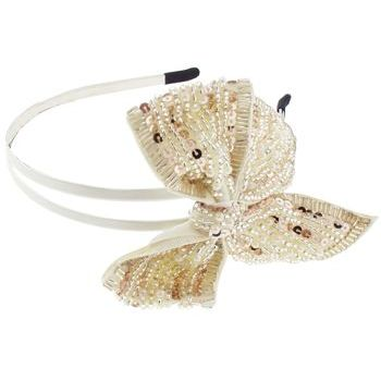 SBNY Accessories - Couture - Larkspur - Sequined Bow Double Headband - Champagne