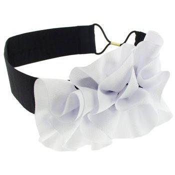 SBNY Accessories - Couture - Myrtle - Grosgrain Ribbon Ruffle Bandeau - Alpine Snow