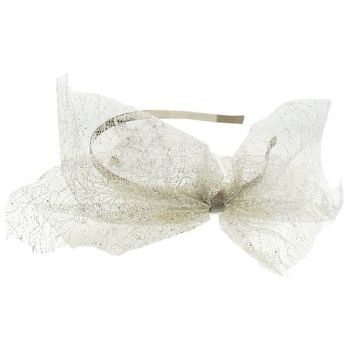 SBNY Accessories - Couture - Madder - Large Lace Bow Headband - Gold