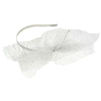 SBNY Accessories - Couture - Madder - Large Lace Bow Headband - Silver